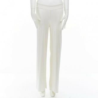Alaia \N White Cloth Trousers