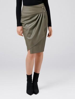 Ever New Isla Wrap PU Pencil Skirt