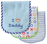 Luvable Friends Blue 'I Love Daddy' Burp Cloth - Set of Three