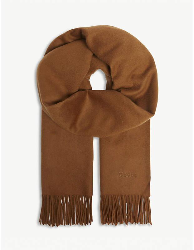 Max Mara Logo cashmere scarf