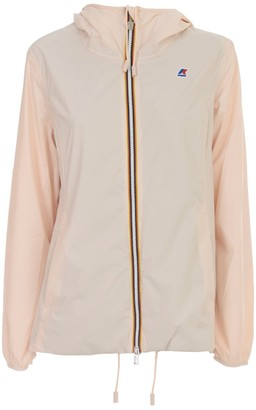 K-Way Marguerite Poly Jersey Bomber Jacket Short W/hood