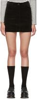 YMC Black Corduroy Miniskirt