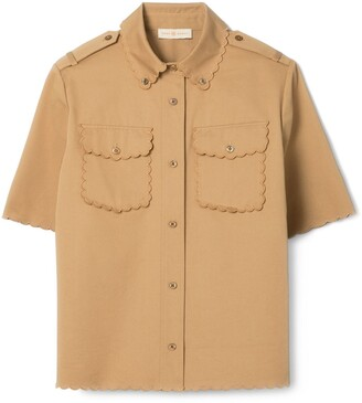 Tory Burch Twill Safari Shirt