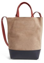 Rag & Bone Walker Convertible Leather Tote - Grey