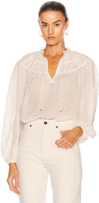 Ulla Johnson Yulia Blouse in Blanc | FWRD