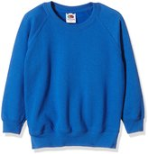 Fruit of the Loom Childrens Unisex Raglan Sleeve Sweatshirt