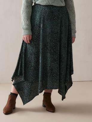 Hanky-Hem Green Skirt - Addition Elle