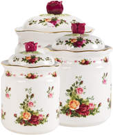 "Royal Albert Old Country Roses"" Canisters, Set of 3"