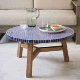 west elm Mosaic Tiled Coffee Table - Blue Penny
