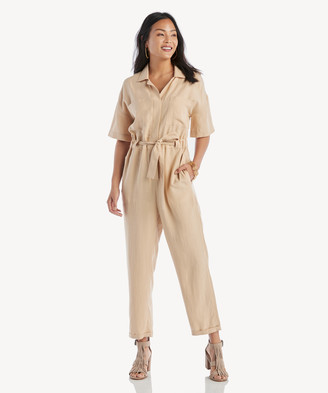 Astr Women's Miri Jumpsuit In Color: Sand Size XS From Sole Society