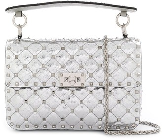 Valentino metallic Rockstud Spike shoulder bag