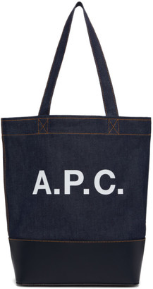 A.P.C. Indigo and Navy Denim Axelle Tote