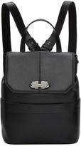Carven Black Two Ways Clasp Backpack