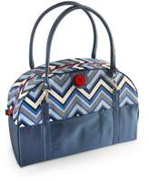 2 Red Hens Studio Coop Carry-All Diaper Bag - Chevron Stripes Blue