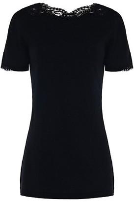 La Perla Supple Lace-Trim T-Shirt