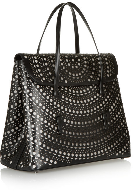 Alaia Vienna laser-cut leather tote