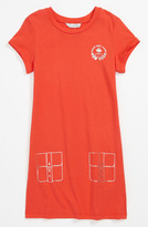 Little Marc Jacobs Jersey Dress (Little Girls & Big Girls) Coral Red 12