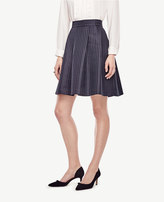 Ann Taylor Petite Texture Dot Pleated Skirt