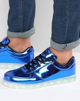 Wize & Ope LED Metallic Low Sneakers