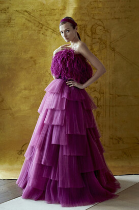 Khoon Hooi Mathilda Strapless Tiered Ball Gown