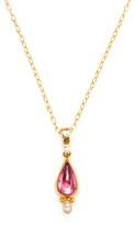 Gurhan Diamond, Tourmaline and 24K Yellow Gold Necklace