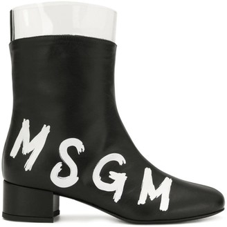 MSGM contrast logo boots