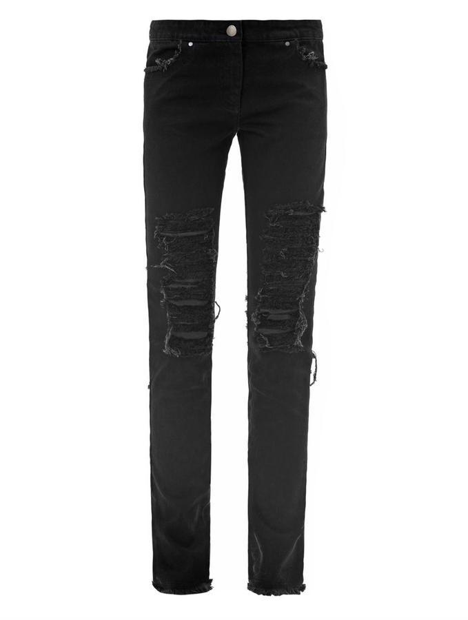 Christopher Kane Shredded high-rise skinny jeans