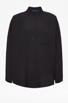 French Connection Crepe Light Convertible Collar Shirt