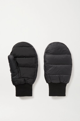 HOLZWEILER Bubble Padded Shell And Stretch-jersey Mittens - Black