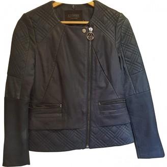 Eleven Paris Blue Leather Jacket for Women