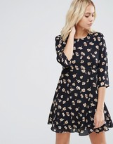 Goldie Hazy Days Floral Printed Tea Dress