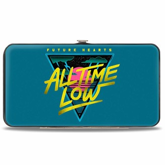 Buckle Down Buckle-Down Hinge Wallet - All TIME Low-Future Hearts Icon Blues/Yellows/Pinks