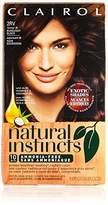 Clairol Natural Instincts, 2RV / 38 Blackberry Burgundy Black, Semi-Permanent Hair Color, 1 Kit
