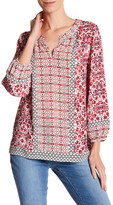 NYDJ Mixed Pattern Peasant Blouse