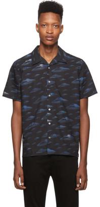 Paul Smith Blue Spaceships Shirt