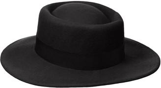 Michael Stars Women's Wool Flat-Top Fedora Brim Hat