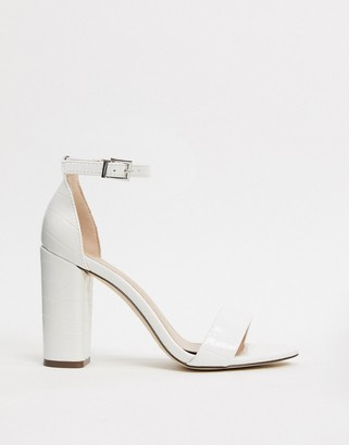 Call it SPRING by ALDO Tayvia ankle strap block heeled sandal in white