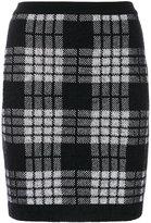 Balmain checked knitted skirt - women - Polyamide/Viscose/Mohair/Wool - 36