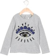 Kenzo Girls' Eye Print Long Sleeve Top