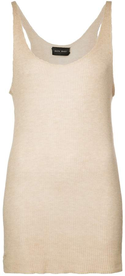 Baja East long knitted top