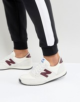 New Balance 420 Suede Trainers In White U420pwb