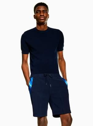 TopmanTopman Navy Side Taping Smart Shorts