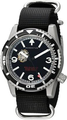Momentum Men's 1M-DV32B7S M30 Open Heart Automatic Analog Display Mechanical Hand Wind Grey Watch