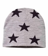 Molo Star Print Colder Hat In Grey Melange