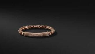 David Yurman Pave Bracelet With Cognac Diamonds
