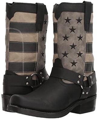 Durango Flag Harness 11 Boot (Black/Charcoal/Grey) Cowboy Boots