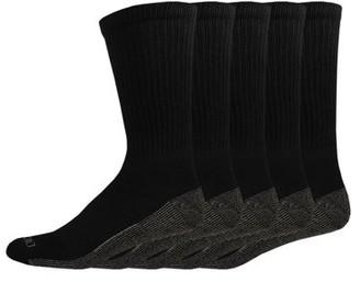 Dickies Genuine Men's Dri-Tech Comfort Crew Work Socks, 5-Pack