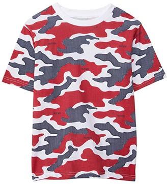 Tommy Hilfiger Dotted Camo Short Sleeve T-Shirt (Bid Kids) (Bright White) Boy's Clothing