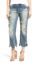 BLANKNYC Denim Frayed Uneven Hem Crop Jean