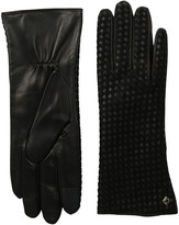 Cole Haan Braided Back Leather Gloves with Tech